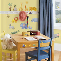 Roommates Nursery Jungle Wall Stickers Safari Wall Stickers for Kids Bedrooms GBP 13.98