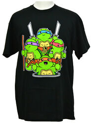 Teenange Mutant Ninja Turtle Babies T shirt Nickelodeon Graphic Tee Black NWT $13.99