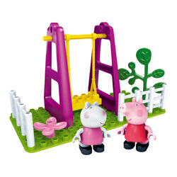 Pigs Family Toy Piggy Building Blocks Swing Playground Car Classroom House Kids $23.42