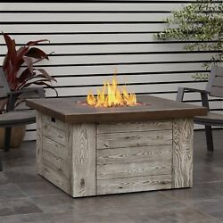 Forest Ridge Propane Fire Table Weathered Grey w-NG Conversion