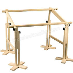 Quilting Frame Hand Kit Wood Full Size Wooden Adjustable Sturdy Quilt Supplies