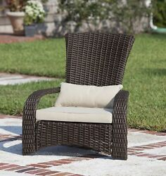 Outdoor Chair Patio Wicker Beige Cushion Furniture for Garden Pool Relaxing NEW