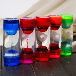 Colorful Motion Bubbler Liquid Oil Hourglass TImer Toy Home Ornament Decor Gift $17.10