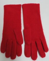 Bergdorf and Goodman Red 100% Cashmere Gloves + Plaid Scarf NWOT