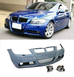06-08 BMW E90 3-Series With PDC M-Tech Style Front Bumper W Clear Fog Lights