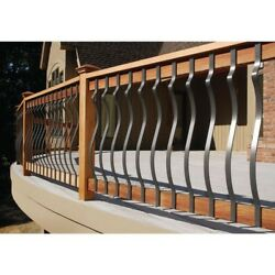 DeckoRail Black Aluminum Contour Baluster Decoration Deck Porch Railing 14 PACK