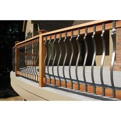 DeckoRail Bronze Aluminum Contour Baluster Decoration Deck Porch Railing 14 PACK