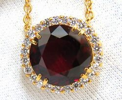 GIA Certified 16.10ct Natural Rhodolite & 1.40ct diamonds necklace+