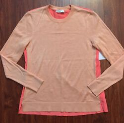 Equipment Femme Coral 'Cecile' Silk Yarn and Cashmere Sweater XS
