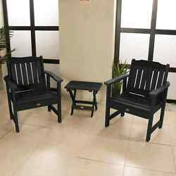 2 Lehigh Garden Chairs with 1 Folding Side Table