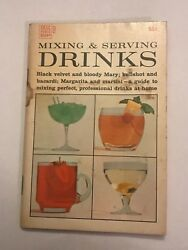 Mixing and Serving Drinks 1969 Dell Publishing Antique Book Vintage