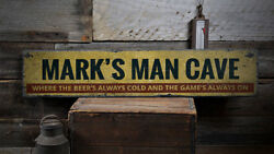 Man Cave Saying Sign Man Phrase Sign -Distressed Wooden Sign ENS1001937