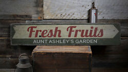 Fresh Fruits Sign Wood Fruits Decor -Distressed Wooden Sign ENS1001898