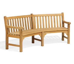 Canora Grey Dunloy Curved Wood Garden Bench