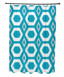 e by design More Hugs and Kisses Geometric Print Shower Curtain