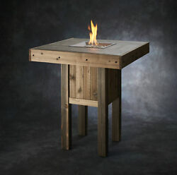 The Outdoor GreatRoom Company Westport Pub Wood Gas Fire Pit Table FIR1681