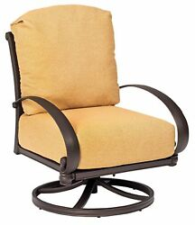 Woodard Holland Swivel Rocking Lounge Chair with Cushions