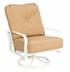 Woodard Fremont Big Man's Swivel Rocking Lounge Chair with Cushions