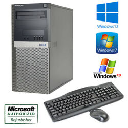 Fast Dell Optiplex 960 Tower Performance PC Windows 10  7  XP Keyboard Mouse
