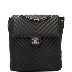 Chanel Urban Spirit Black Chevron Lambskin Backpack