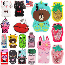 3D Silicone Animal Cartoon Thick Rubber Gel Kawaii Cover Case for Apple iPhone $9.99
