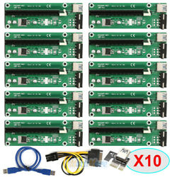 Lot USB 3.0 PCI E Express 1x To 16x Extender Riser Card Adapter 4PIN Power Cable $16.99