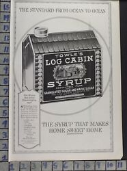 1919 LOG CABIN SYRUP ST PAUL MN TIN KITCHEN HOME DECOR VINTAGE ART AD  BV52
