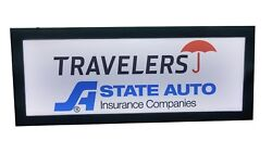 INSURANCE SIGN .TRAVELERS STATE AUTO  INSURANCE signLed light box signLED SIGN $195.00