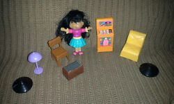 Vintage plastic dollhouse possibly Barbie furniture and Cabbage Patch small doll