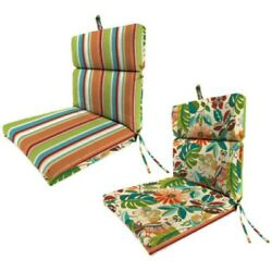 Outdoor Patio Furniture Universal Chair Cushion Set of 2 Replacement Cushions