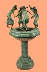 Bronze fountain Hotcast sprinkler Four Girls Dancing Garden lawn Sculpture Art