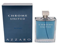 Chrome United by Azzaro 6.8 oz EDT Cologne for Men New In Box $30.63