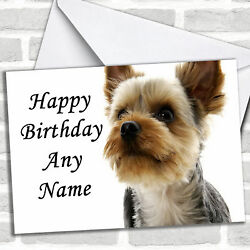 Yorkshire Terrier Dog Personalized Birthday Card $6.59
