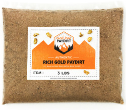 3 POUNDS Rich Unsearched Gold Paydirt - gold panning concentrates ADDED GOLD! $27.50