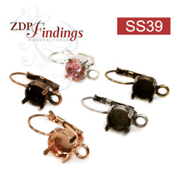 6pcs x 3 pairs x ss39 1028 1088 Swarovski Lever back Earrings with Loop $10.74