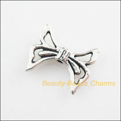 30Pcs Tibetan Silver Tone Knot Wings Spacer Beads Charms 16.5x20mm $3.54