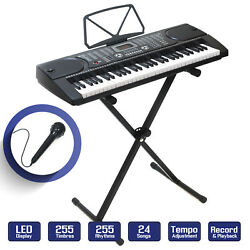 Digital Piano Keyboard 61 Key - Portable Electronic Instrument with Stand $82.99