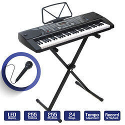 Digital Piano Keyboard 61 Key Portable Electronic Instrument with Stand $68.99