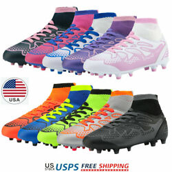 DREAM PAIRS Kids Girls Boys Soccer Shoes Outdoor Multi Ground Soccer Cleat Kids $24.63