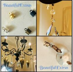 12 SMALL MAGNETS Silver DIY MAGNETIC CRYSTALS Chandelier Crystal Hanging Magnets $10.00