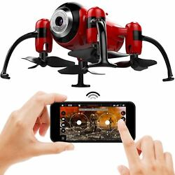 Red Mini Drone Quadcopter with Camera Video Stream Altitude Hold Headless Mode $41.99