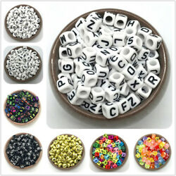 100pcs Mix Letter Beads 26 Letter Charms Bracelet Necklace For Jewelry Making