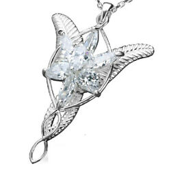 925 Sterling Silver The Lord of the Rings Arwen Evenstar Pendant Necklace LOTR