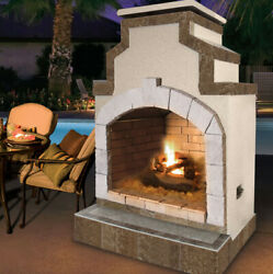 Cal Flame Propane Gas Outdoor Fireplace