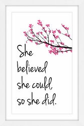 Marmont Hill 'She Believed' by Diana Alcala Framed Painting Print