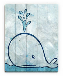 Click Wall Art 'Thar She Blows' Painting Print on Plaque