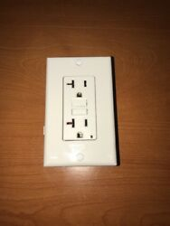 Leviton Commercial Self Test GFCI Outlet With Wallplate 3white 1beige 1black