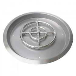 Stanbroil Stainless Steel Round Drop-In Fire Pit Pan with 18