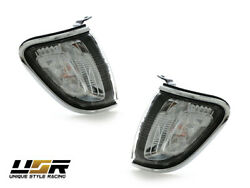 DEPO Chrome Trim Clear Front Corner Lights Lamps For 01 02 03 04 Toyota Tacoma $68.96