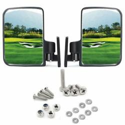 10L0L Golf Cart Mirrors Side Rear View Fits Club Car Ezgo Yamaha US STOCK $20.88